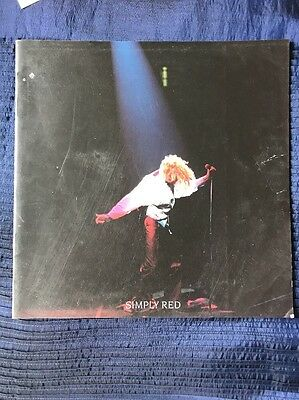 """""""simply Red """" A New Flame World  Tour Programme, 1989."""