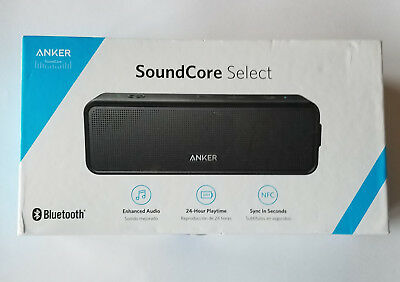 Unused Anker SoundCore Select Portable Wireless Bluetooth Speaker - BLACK