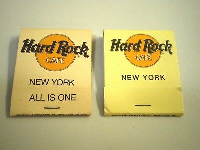 Vtg HARD ROCK CAFE New York TWO PACKS 2 Variations ALL IS ONE Unused Matchbooks