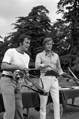 The Persuaders! Tony Curtis Roger Moore with cross bows archery 24x36 Poster