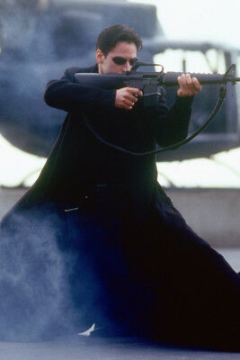 The Matrix Keanu Reevs Rifle 24x36 Poster Print