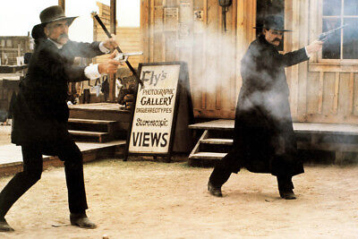 Tombstone Kurt Russell Sam Elliott Firing Guns In Gunfight Scene 24X36 Poster
