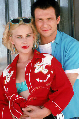 True Romance Christian Slater Patricia Arquette Portrait 24X36 Movie Poster