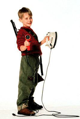 Home Alone Macaulay Culkin With Hair Dryer And Iron 24X36 Poster
