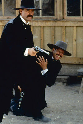 Tombstone Kurt Russell Bill Paxton in shootout 24x36 Poster