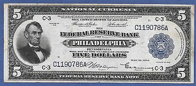 1918  $5 Frbn  ♚♚ Philadelphia ♚♚  Very Rare!!! Only 45 Known!!!