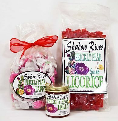 Shadow River Gourmet Prickly Pear Candy Sampler (Licorice, Taffy, Jelly)