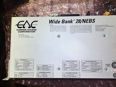 Carrier Access Wide Bank 28 DS3 Multiplexer widebank Rack Mount refurbished
