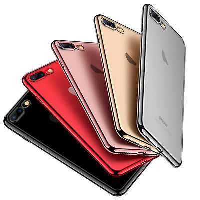 For iPhone XS Max 7 8 Luxury Ultra-Thin Clear Soft TPU Silicone Case Cover Skin