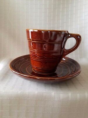 Vintage MarCrest One Finger Cup and Saucer
