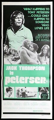 PETERSEN 1974 Jack Thompson Jackie Weaver RARE Daybill Movie poster