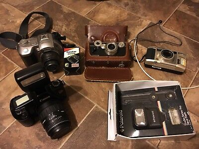 HUGE Camera Lot Sony MVC-CD400 Canon EOS Rebel RARE Vintage Argus Olympus 105