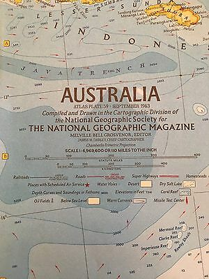 Vintage 1963 Map of Australia and 1979 Australia Land Of Living Fossils Map Lot