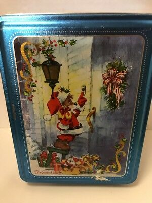 THE SWISS COLONY CHRISTMAS vintage tin signed H. ENDRES  christmas mouse