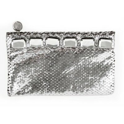 new womens silver bling clutch
