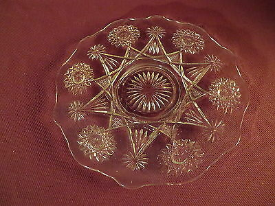 Vintage Clear Glass Serving Dish - Low Pedestal - Cake Plate