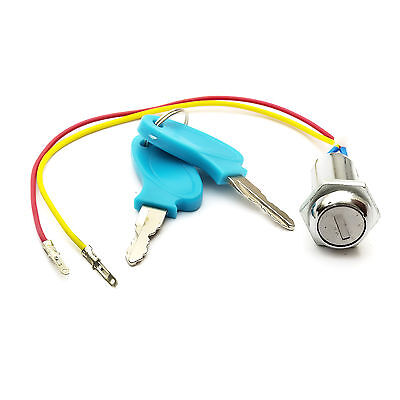 Electric E Scooter Bike KEY IGNITION BARREL Switch Electricscooter 2 Wire On Off