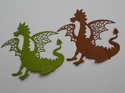 Dragon Paper Die Cuts x4 Sets Scrapbooking Card Topper Embellishment - NOT a DIE