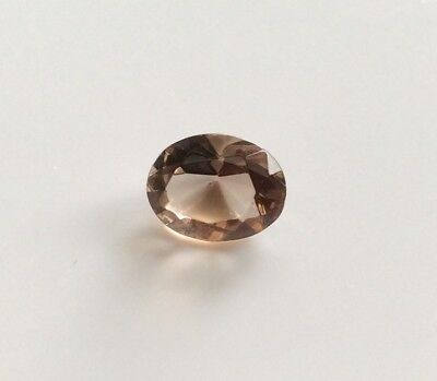 1 Pc X Oval Cut Shape Natural Smoky Quartz 8Mm X 6Mm Faceted Loose Gemstone