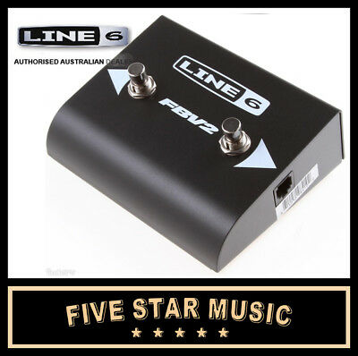Line 6 Fbv2 Footswitch For Spider Amps & Pod Units Fbv 2-Button Pedal - New