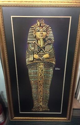 "Treasures of Tutankhamun Poster Framed 28""W  X  49.5""H"