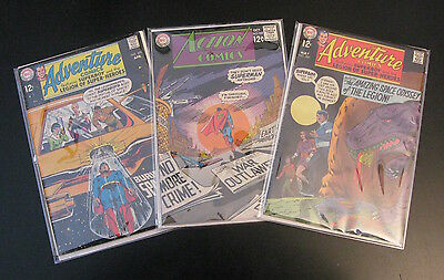 Lot of *3* 1968-'69 DC: •ACTION #368 •ADVENTURE/Legion #379, 380 (FN+) or (FN++)