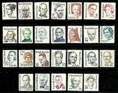 Usa Sc#1844-1869 Great Americans Postage Stamps Mnh