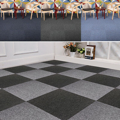 5m2 Box 20 Carpet Tiles Commercial Domestic Home Office Heavy Contract Flooring