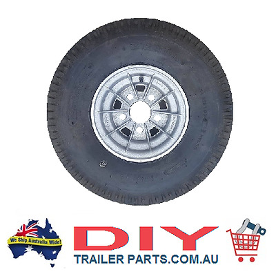 9 Inch Alloy Wheel & Tyre - Ht Pattern  - Boat Trailer