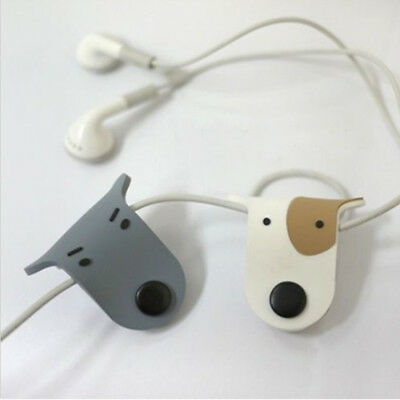 2X Dog Doggie Earphone Earbud Headphone Cable Cord Organize Manager Wrap Winder