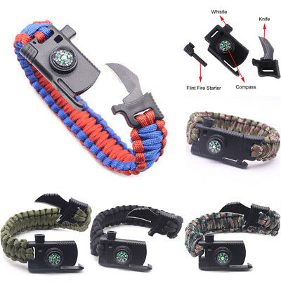 Tactical Gear Cutter Rope Webbing Buckle Outdoor Camping Hiking Survival USA