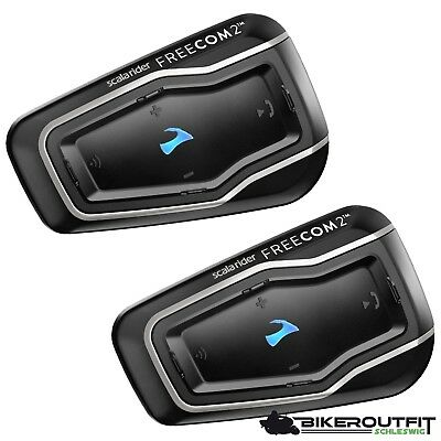 CARDO Interkom Headset Scala Rider FREECOM 2 Kommunikationsgerät Bluetooth Duo