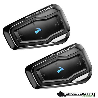 CARDO Scala Rider FREECOM 4 Interkom Motorrad Bluetooth Headset 4.1 Doppelset