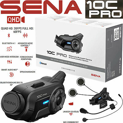 SENA Kommunikationssystem Bluetooth Headset 10C Gegensprechanlage inkl Actioncam