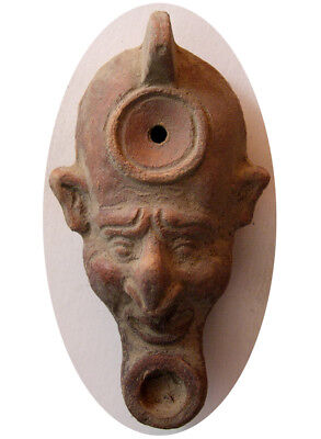 PCW-AN290-ROMAN EMPIRE. Circa  2nd-3rd. Century AD. Terracotta Oil Lamp. Rare.
