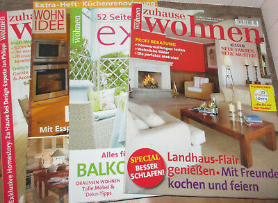 wohnen garten deko 5 st zeitschriften eur 4 00. Black Bedroom Furniture Sets. Home Design Ideas