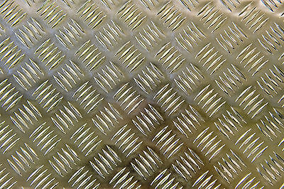 Aluminium Tread plate Chequer Kick Plate Treadplate 5 Bar Sheet various sizes