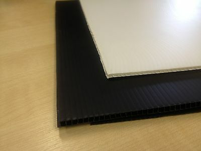 Correx Sheet 4mm thick - Corrugated Plastic - White or Black - Sheet 2400 x 1200