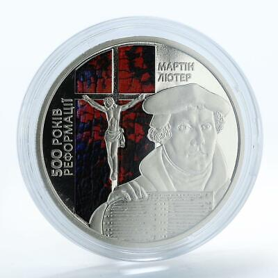 Ukraine 5 hryvnas 500th Anniversary of the Reformation Martin Luther coin 2017