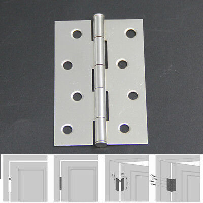 "Useful 2pcs Cabinet Drawer Door Stainless Steel Butt Hinges 2""/3""/4"" Length"
