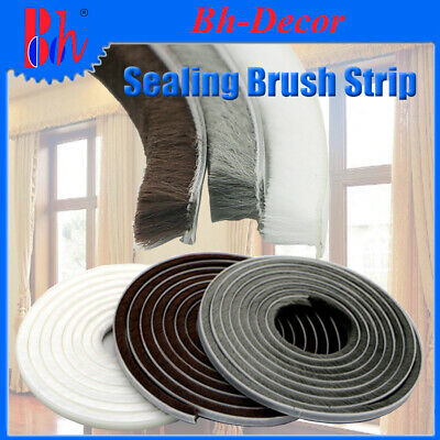 Self Adhesive Sealing Brush Strip Door Window Weather Stripping Draught Excluder