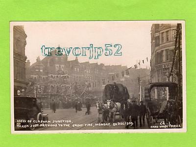 Clapham Junction previous to Great Fire 1909 London RP pc Card House Ref C105