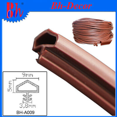 New PVC Door Seals Extrusion Rubber Anti Collision Sealing Strips A09 Red Brown