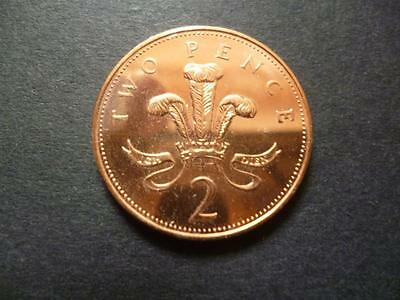 2003 Brilliant Uncirculated Two Pence Piece. 2003 2P Coin Uncirculated.