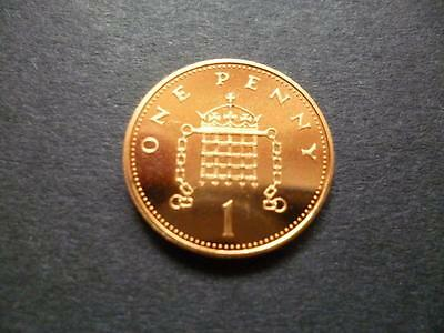 1990 Brilliant Uncirculated One Pence Piece. 1990 Uncirculated 1P Coin.
