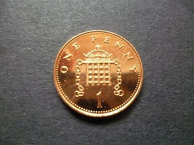 1997 Brilliant Uncirculated One Pence Piece. 1997 Uncirculated 1P Coin.