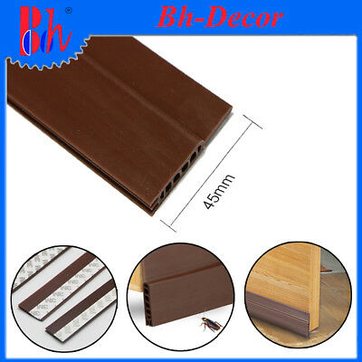 45mm Self Adhesive Silicone Rubber Door Bottom Seals Sealing Weather Strippings