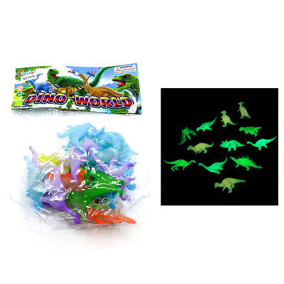 16x 2 inch Mini Jurassic Noctilucent Dinosaur Toys Kids Action & Figures Gift 5t