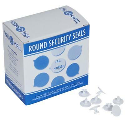 New Val- U-Mail White rounded security seals, 500.