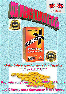 20 x YELLOW INTENSE X  20mg 48HR ERECTION SEX AID   PILLS EXPIRY DATE SEP 2019